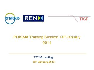 PRISMA Training Session 14 th  January 2014