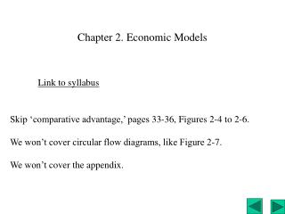 Chapter 2. Economic Models