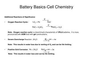Battery Basics-Cell Chemistry