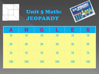 Unit 5 Math: JEOPARDY