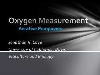 Oxygen Measurement