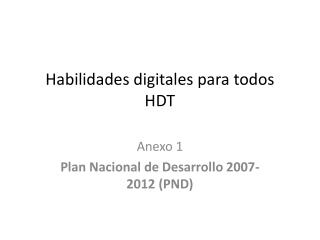 Habilidades digitales para todos HDT