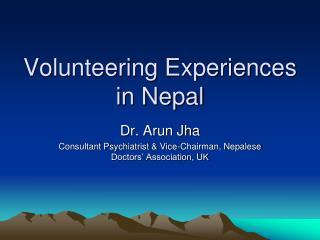 Volunteering Experiences in Nepal
