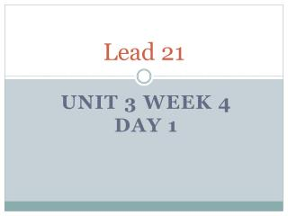 Lead 21
