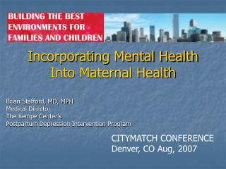 Incorporating Mental Health Into Maternal Health