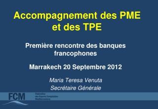 Accompagnement des PME et des TPE