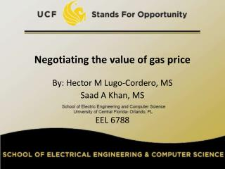 Negotiating the value of gas price