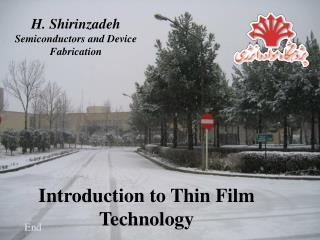 Introduction to Thin Film Technology