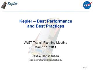 Kepler – Best Performance  and Best Practices