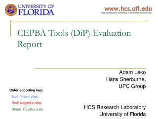 CEPBA Tools (DiP) Evaluation Report