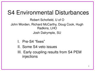 S4 Environmental Disturbances