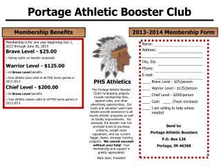 Portage Athletic Booster Club