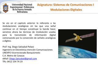 Asignatura: Sistemas de Comunicaciones I