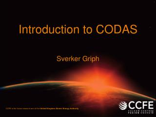 Introduction to CODAS