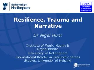 Resilience, Trauma and Narrative