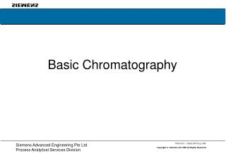 Basic Chromatography