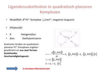 Ligandensubstitution  in quadratisch- planaren  Komplexen