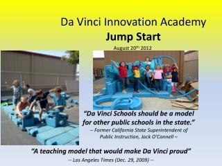Da Vinci Innovation Academy Jump Start