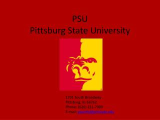 PSU Pittsburg State University