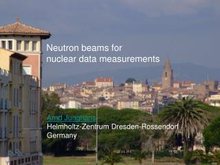 Neutron  beams for nuclear data measurements