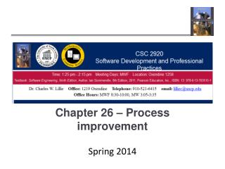 Chapter 26 – Process improvement