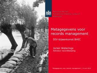 Metagegevens voor records management