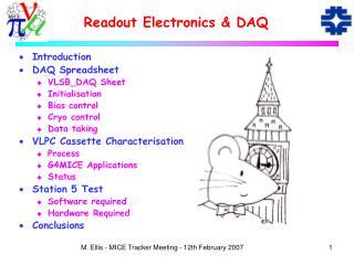 Readout Electronics & DAQ