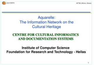Aquarelle:  The Information Network on the Cultural Heritage
