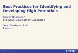Best Practices for Identifying and Developing High Potentials