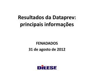 Resultados da  Dataprev : principais informações