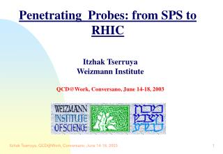 Penetrating  Probes: from SPS to RHIC