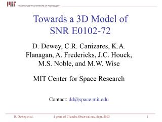 Towards a 3D Model of SNR E0102-72