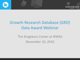 Growth Research Database (GRD) Data Award Webinar