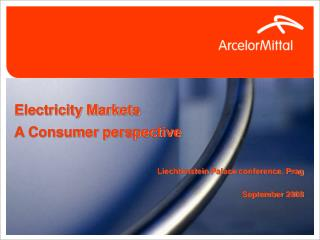 Electricity Markets A Consumer perspective