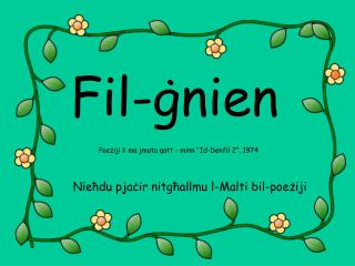 Fil-ġnien