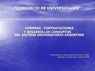 """CONSORCIO DE UNIVERSIDADES"""