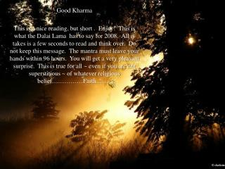 Good  Kharma