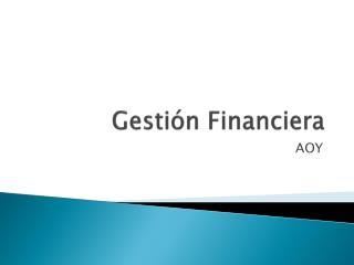 Gesti ón Financiera