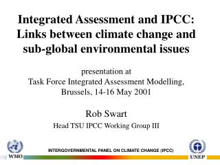 Rob Swart Head TSU IPCC Working Group III