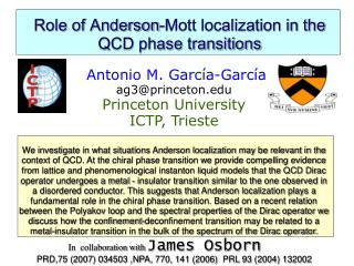 Role of Anderson-Mott localization in the QCD phase transitions