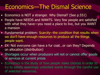Economics The Dismal Science