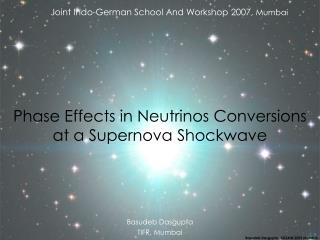 Phase Effects in Neutrinos Conversions at a Supernova Shockwave