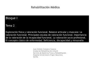Rehabilitación Médica