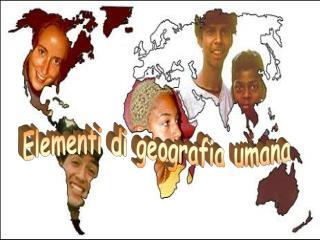 Elementi di geografia umana