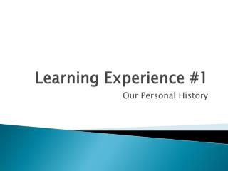 Learning Experience #1