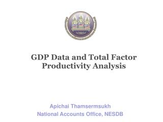 GDP Data and Total Factor Productivity Analysis