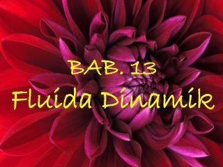 BAB. 13  Fluida Dinamik