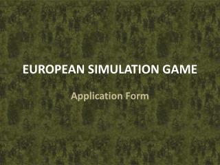 EUROPEAN SIMULATION GAME