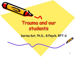 Trauma and our students
