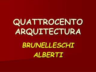 QUATTROCENTO ARQUITECTURA